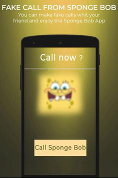 Fake Call From Spongebob screenshot 1