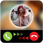 Fake call from zombie icon