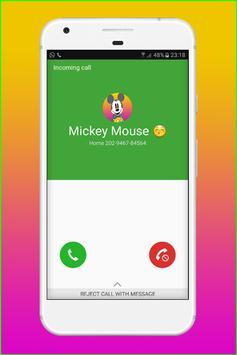 Fake Call From Mickey MS screenshot 4