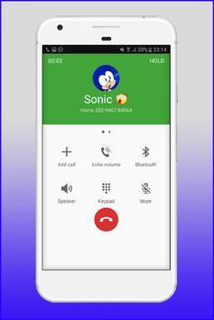 Fake Call From Sonic apk screenshot