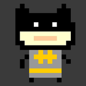 Super Angry Masked Pixel icon