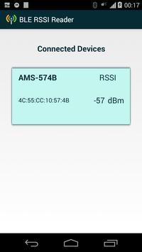 BLE RSSI Reader apk screenshot