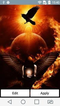 Magic of fire live wallpaper poster