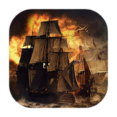 Fiery ship live wallpaper icon