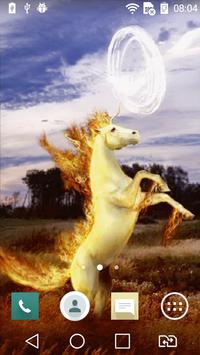 Fiery unicorn live wallpaper apk screenshot