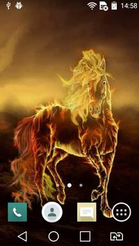 Golden horse live wallpaper apk screenshot