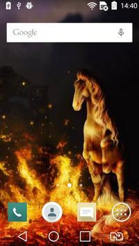 Horse on fire live wallpaper apk screenshot