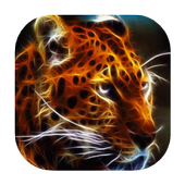 Radiant leopard live wallpaper icon