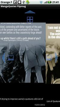 Manga Quotes Flipmag apk screenshot