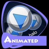 Blue halo Music Theme icon