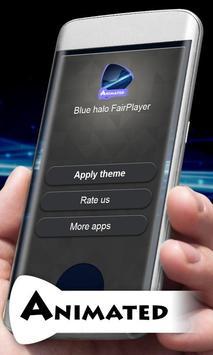 Blue halo Music Theme apk screenshot