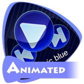 Electric blue icon