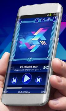 Electric blue poster