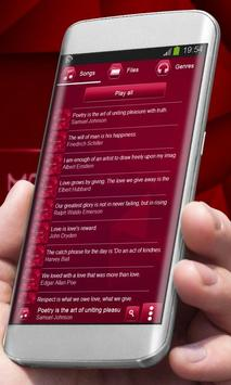 Hypnotic red Best Music Theme apk screenshot