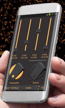Orange sparks Player Skin apk screenshot