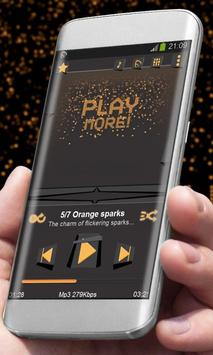 Orange sparks Best Music Theme apk screenshot