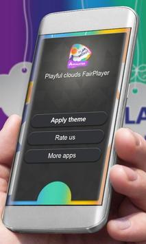 Playful clouds Player Skin apk screenshot