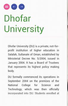 Dhofar University screenshot 2