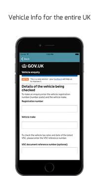 Vehicle Registration Search screenshot 1