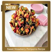 Sweet Strawberry Pompoms Recipe icon