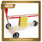 Toy Car Letter Craft Project icon
