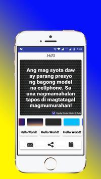 Tagalog, Hugot, Pinoy & Bisaya Love Quotes Editor screenshot 14