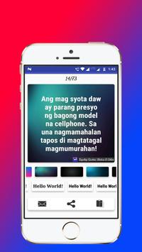 Tagalog, Hugot, Pinoy & Bisaya Love Quotes Editor screenshot 12