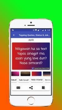 Tagalog, Hugot, Pinoy & Bisaya Love Quotes Editor screenshot 13