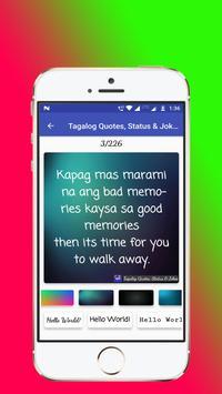 Tagalog, Hugot, Pinoy & Bisaya Love Quotes Editor screenshot 2