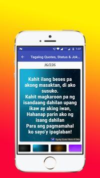 Tagalog, Hugot, Pinoy & Bisaya Love Quotes Editor screenshot 5