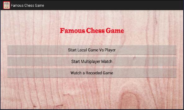 Famous Chess Game screenshot 8