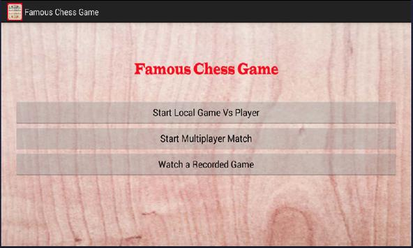 Famous Chess Game poster