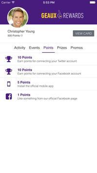 Geaux Rewards apk screenshot