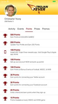 USC Trojan Fever Rewards screenshot 2