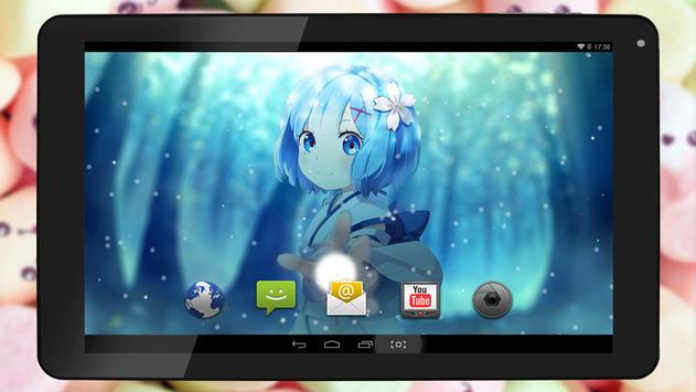 Anime Live Wallpaper of Mini Rem apk screenshot