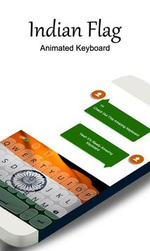 Republic Indian Flag Keyboard poster