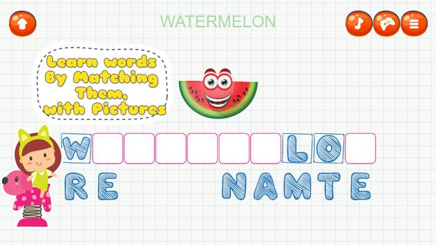 Fancy Fruit Vocabulary Game screenshot 3