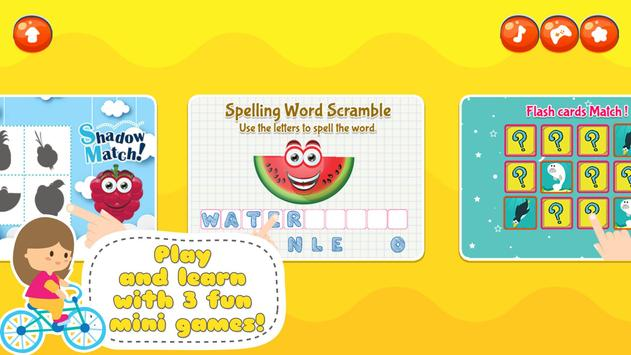 Fancy Fruit Vocabulary Game screenshot 10