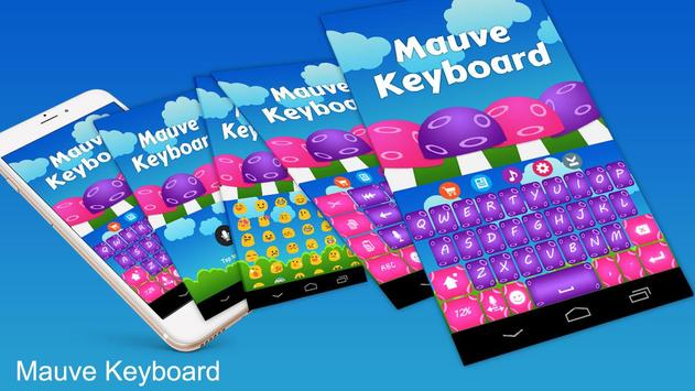Mauve Keyboard Theme screenshot 1
