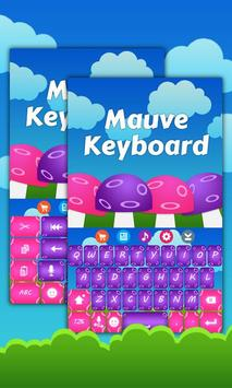 Mauve Keyboard Theme screenshot 2