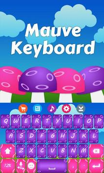 Mauve Keyboard Theme screenshot 3