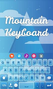 Mountain Keyboard Theme apk screenshot