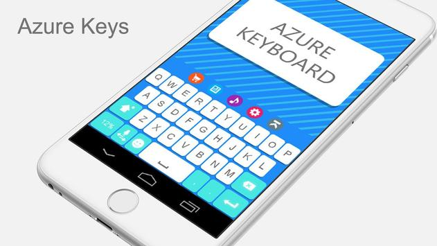 Azure Keyboard Theme apk screenshot