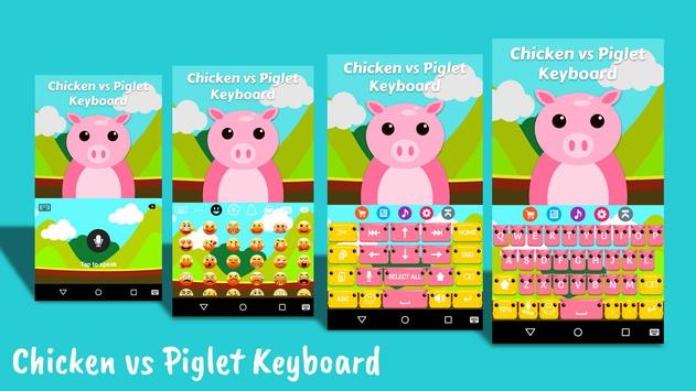 ChickPig Keyboard Theme poster