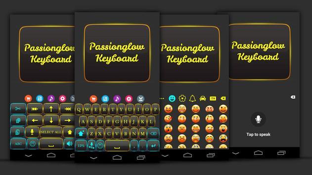 Passion Glow Keyboard Theme screenshot 1