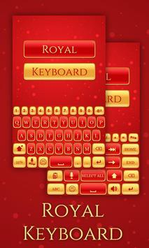 Royal Keyboard Theme screenshot 2