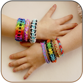 Fancy rubber bracelets icon