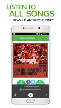 FanChants: Colon Fans Songs & Chants screenshot 1