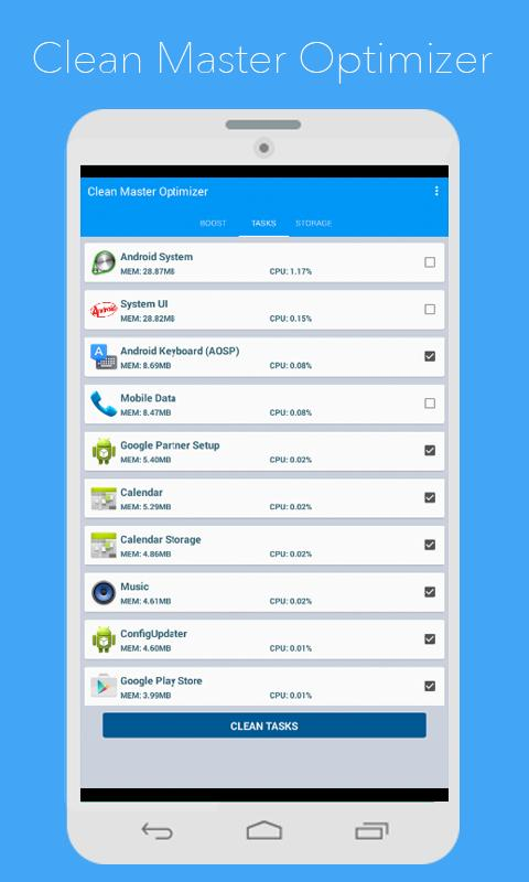 Clean master optimizer apk download free tools app for android - Clean master optimizer apk ...