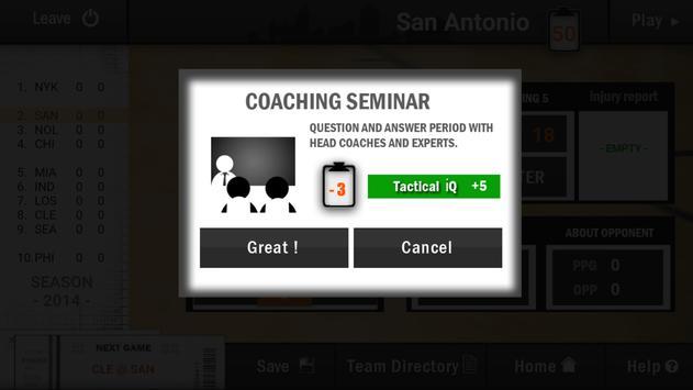 New BBALL Coach 2 apk screenshot